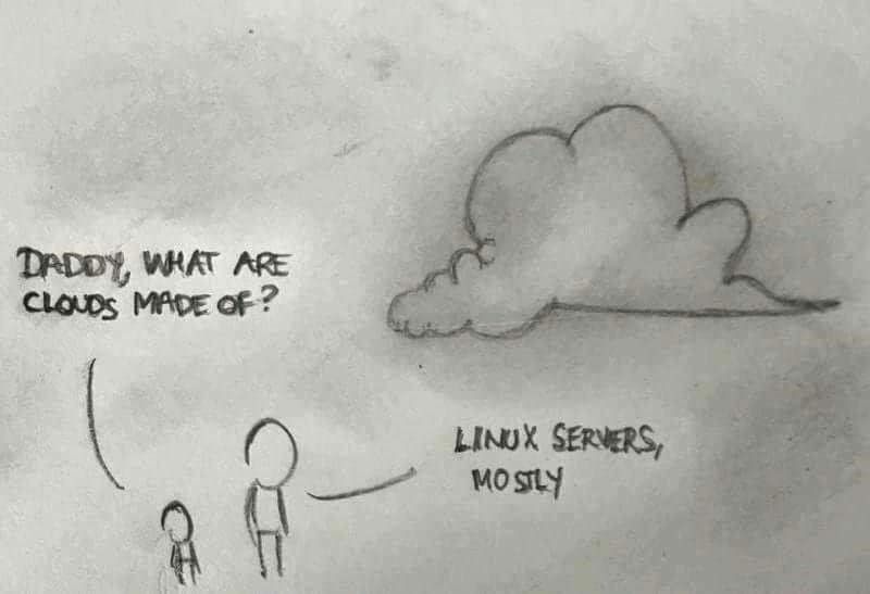 programmer meme - Text - DADDY, WHAT ARE CLOUDS MADE Of? LINUX SERVERS, MO SILY