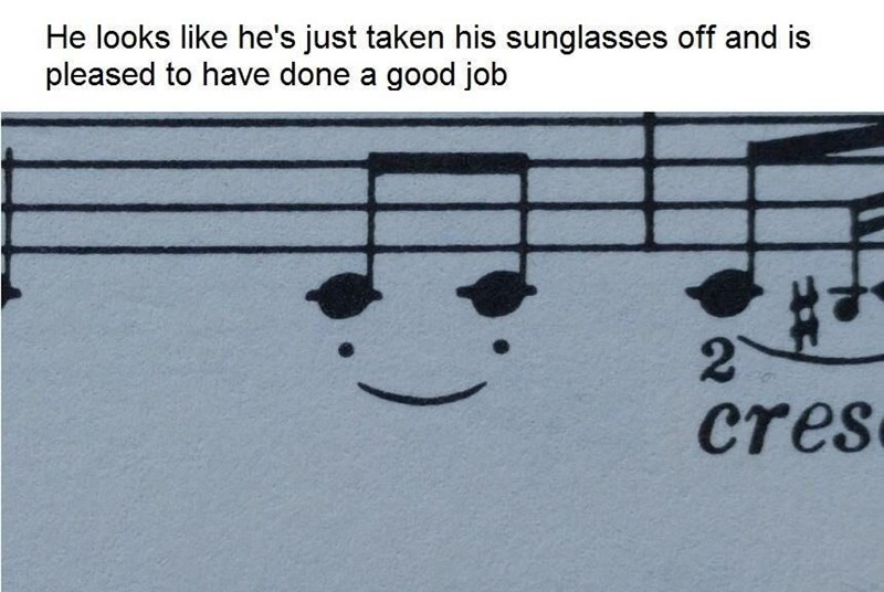 meme - Text - He looks like he's just taken his sunglasses off and is pleased to have done a good job cres