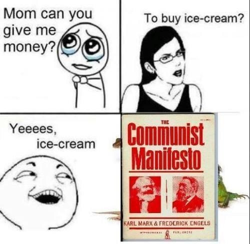 Kid buys the Communist Manifesto with 'ice cream' money