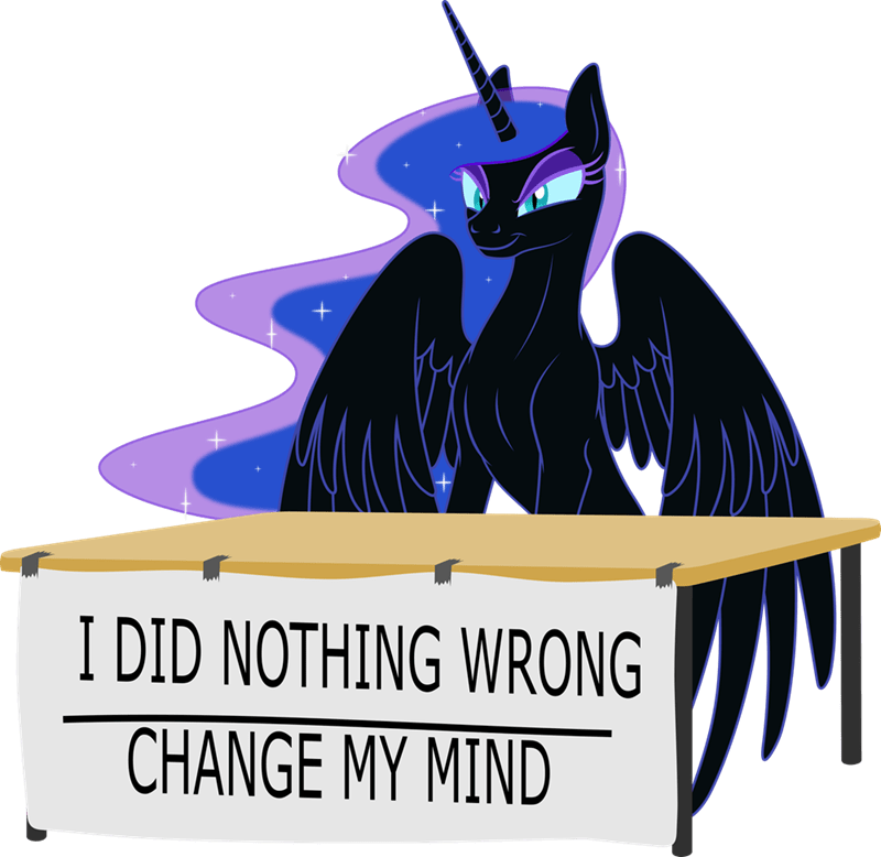nightmare moon change my mind steven crowder grypher Memes princess luna ponify - 9195212032