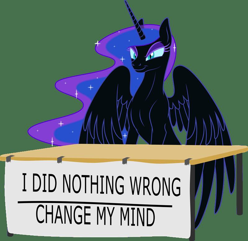 nightmare moon change my mind steven crowder grypher Memes princess luna ponify - 9195212032