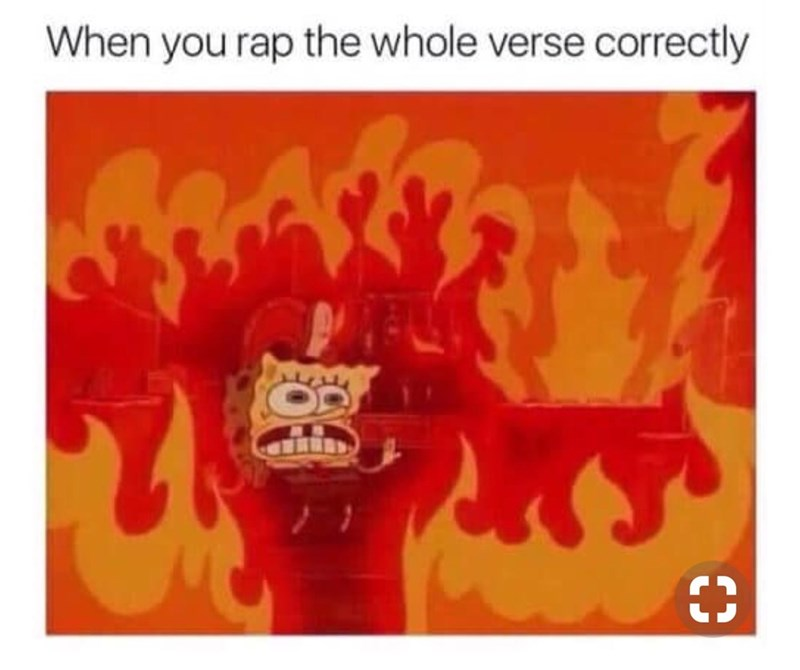 Orange - When you rap the whole verse correctly C3