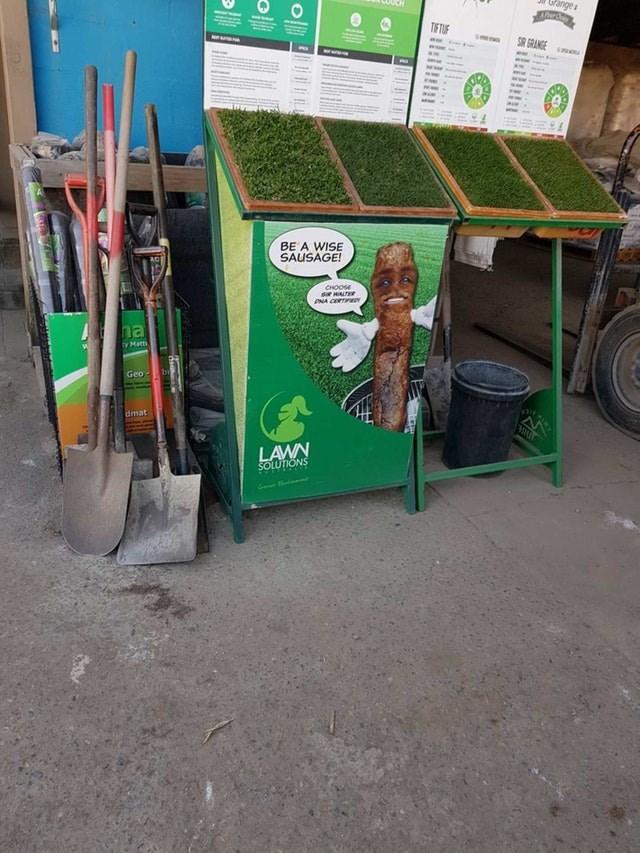Green - Gange TIFTU SIR GRANGE BE A WISE SAUSAGE! CHOOSE s wALTER PNA CERTI ha ty Matti by Geo dmat LAWN SOLUTIONS