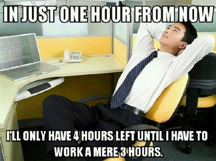 work meme about rationing your time at work