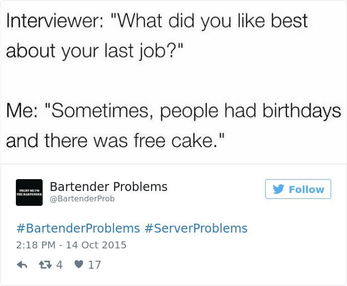 work meme about the only good times at work being when people brought cake