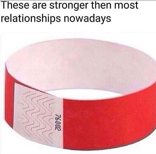 Wristband - These are stronger then most relationships nowadays 76002