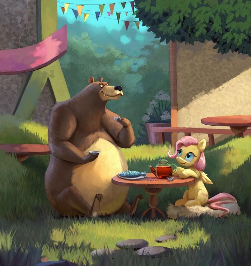harry the bear jotun22 fluttershy - 9196012288