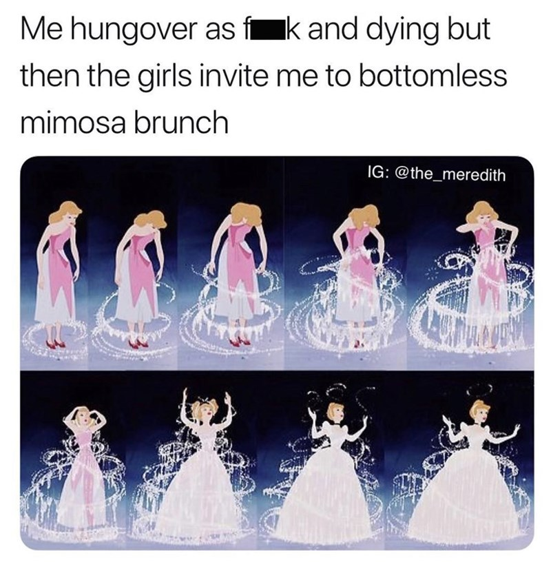 Dress - Me hungover as f kand dying but then the girls invite me to bottomless mimosa brunch IG: @the_meredith
