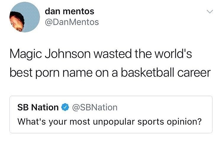 Funny tweet about magic johnson