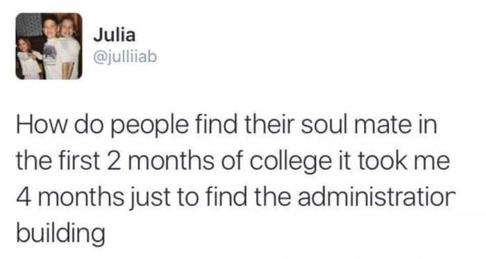 Wednesday Tweet about finding your way around campus