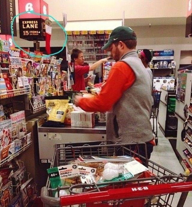 Supermarket - EXPRESS LANE 15TEMS RENT ALGURLER RARS okng svLVANGA 40 pOusLE Celling Fa HEB HECKOUE