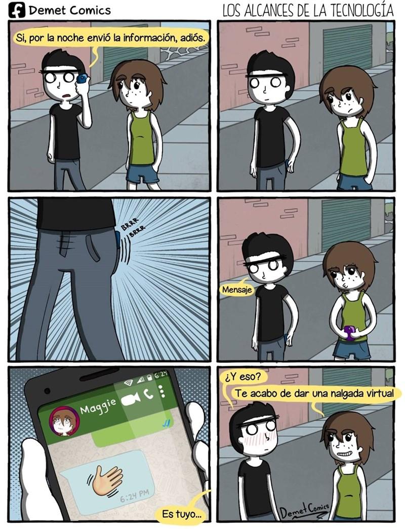 usando la tecnologia moderna para dar amor