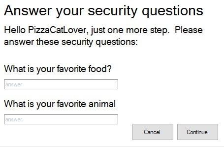 meme about answering a security question that has gone wrong, because the question gave away the answer
