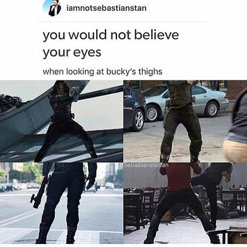 Jeans - iamnotsebastianstan you would not believe your eyes when looking at bucky's thighs Sebastianstanfan