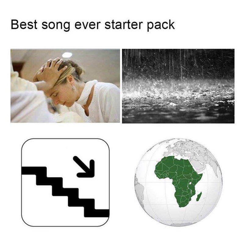 music meme - Human - Best song ever starter pack
