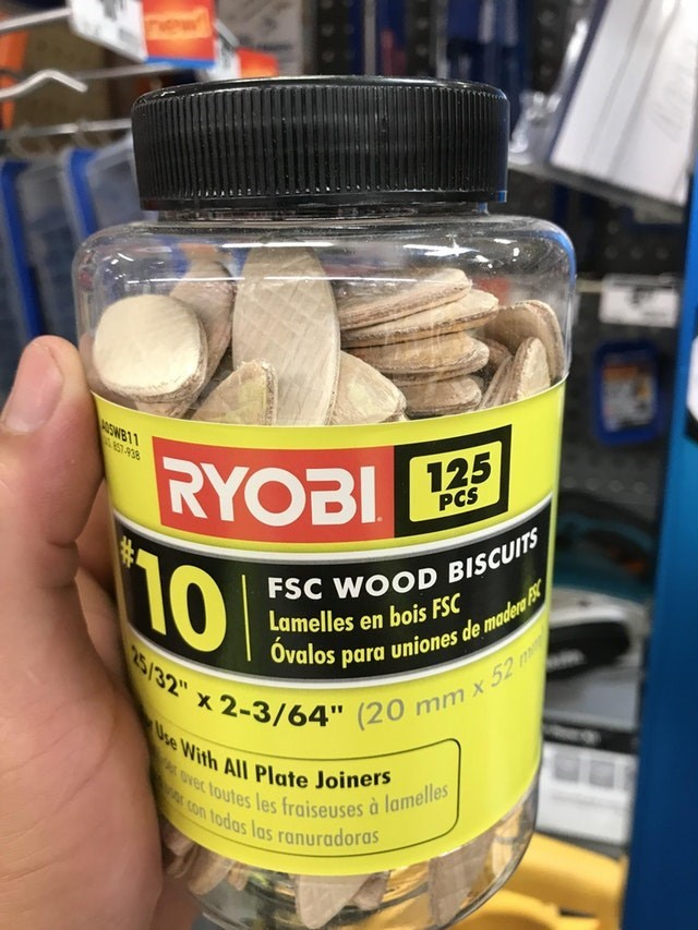 meme about wood chips that appear to be biscuits