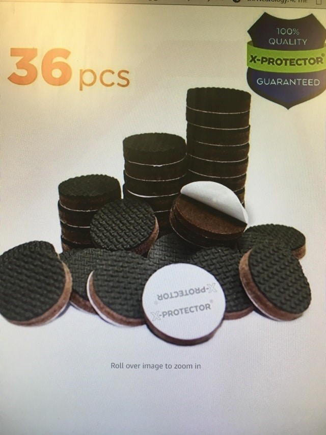 meme image of furniture grippers that looks like oreos