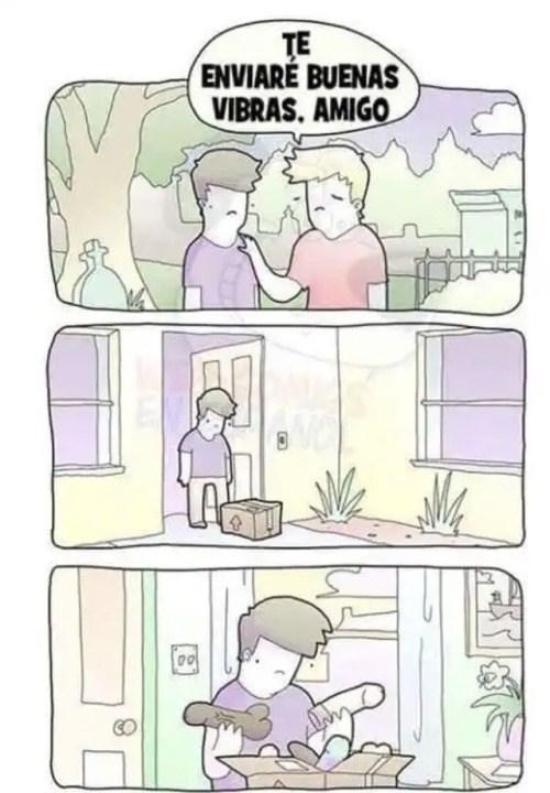 cuando un amigo te envia buenas vibras