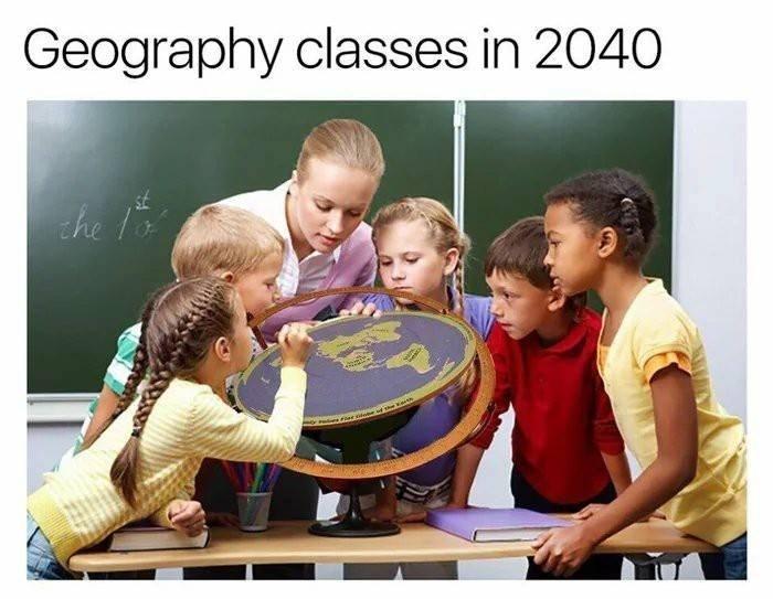 Funny flat earth meme.