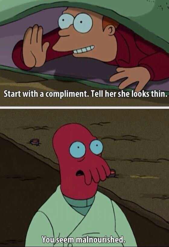 futurama meme about talking to women