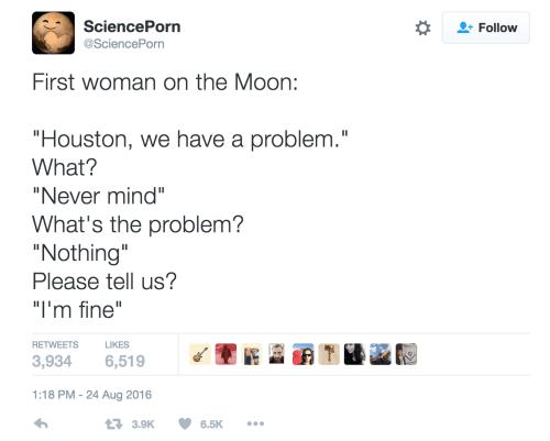 first women on the moon meme