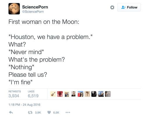 first women on the moon meme