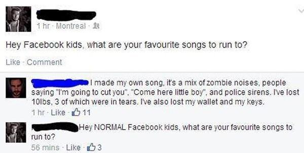 songs on facebook meme