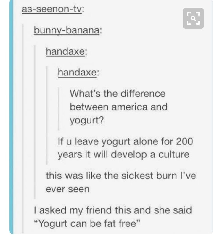 yogurt and america culture meme