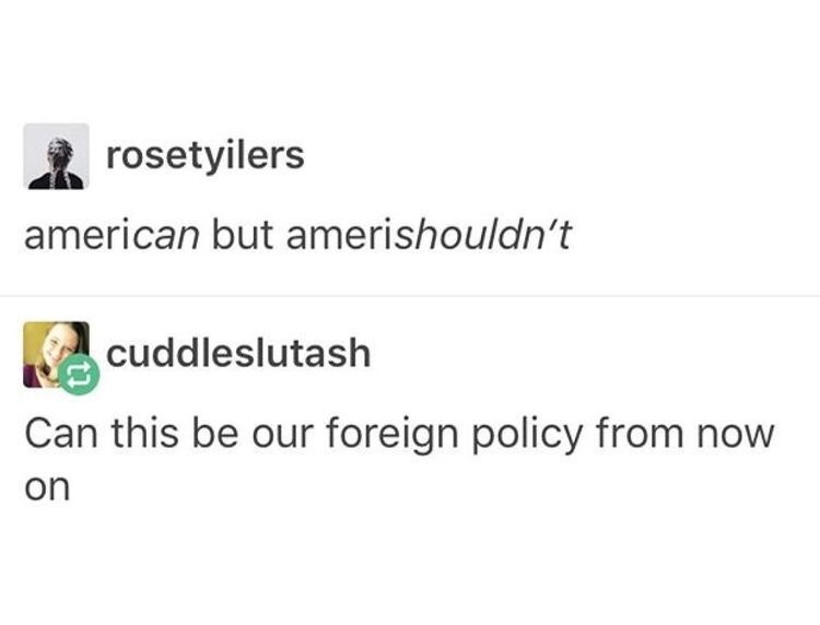 american americshouldn't foreign policy meme