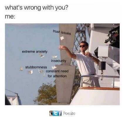 meme image of Jordan from Wolf of wall street throwing money when asked whats wrong with you