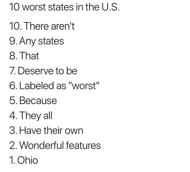 which state is the worst meme and it is ohio