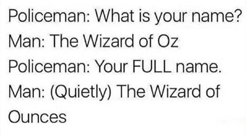 The Wizard of Ounces meme