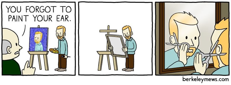 dank meme about Van Gogh and his ear