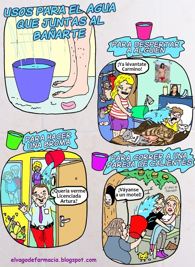 que hacer con el agua que recoges cuando te banas