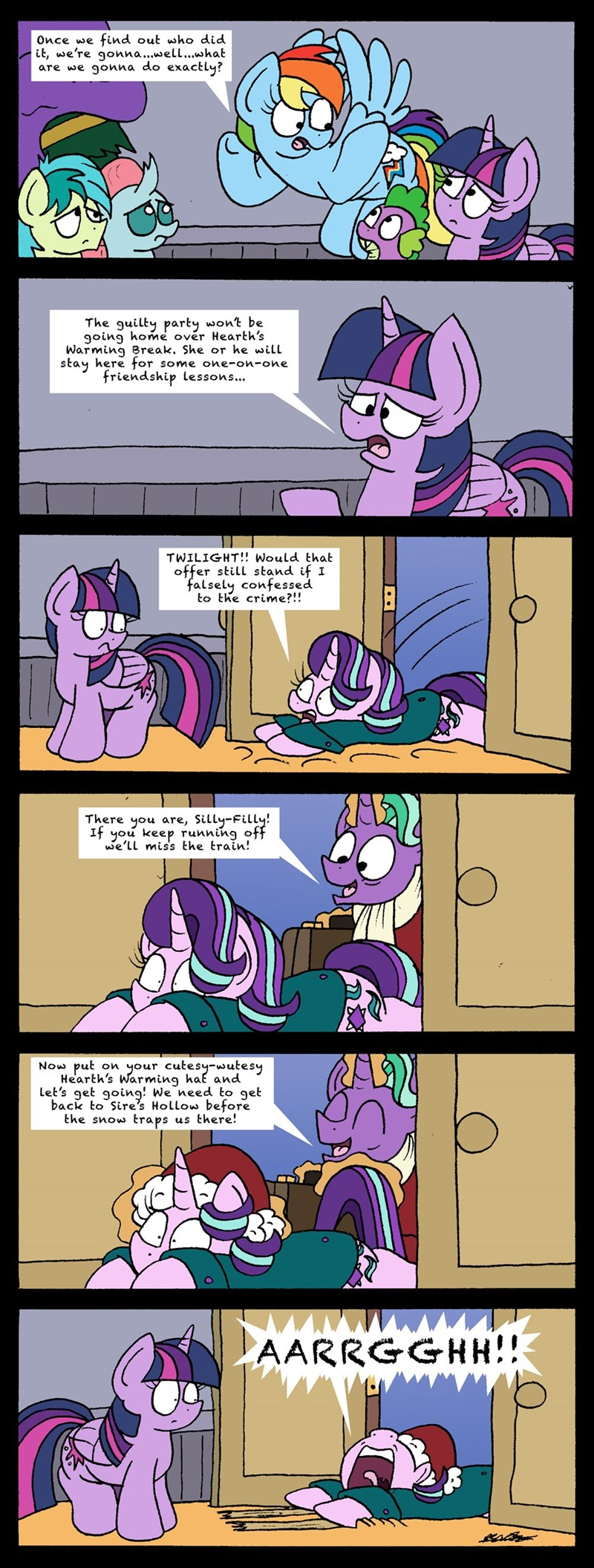 firelight bob the dalek starlight glimmer twilight sparkle comic the hearth's warming club rainbow dash - 9198792960