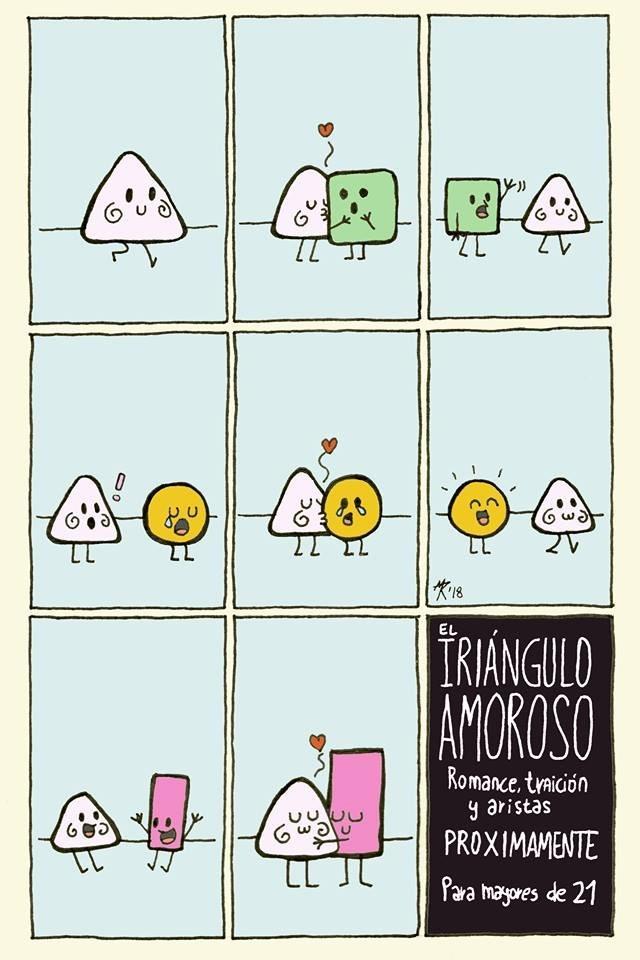 el triangulo amoroso vineta de manutintocomics