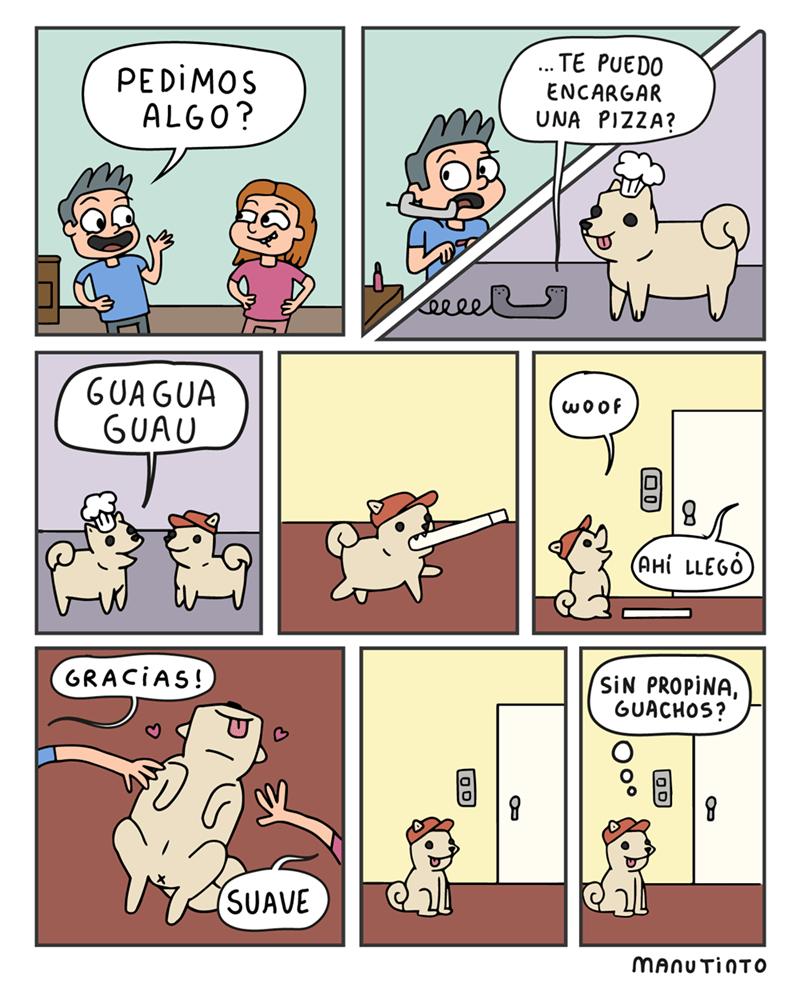 cuando pides un perro por telefono pero no le dejas propina