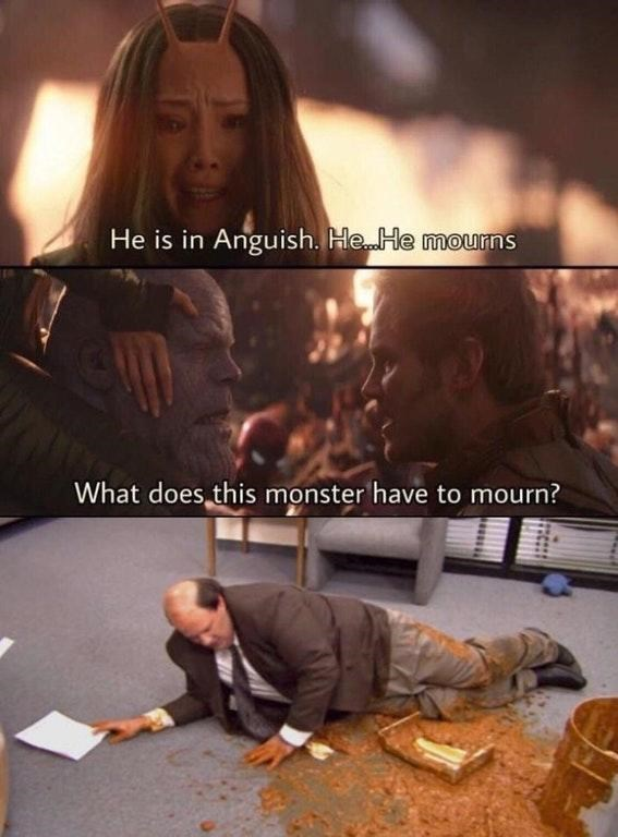 Font - He is in Anguish. He He mourns What does this monster have to mourn?