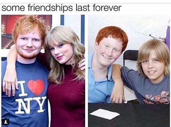 ed sheeran meme - Blond - some friendships last forever NY