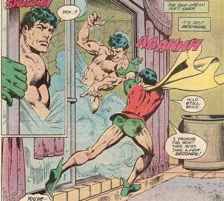 Fictional character - THE EAD DREAM ISN'T OVER DICK.. T5 JUST BEGINNING HOLD STILL BRUCE I PROMISE THIS WON'T TAKE MORE THAN A FEW SECONDS You'RE