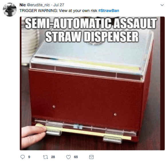 dank meme of a semi automatic assault straw dispenser