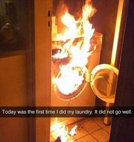 snapchat - Heat - Today was the first time I did my laundry. It did not go well.