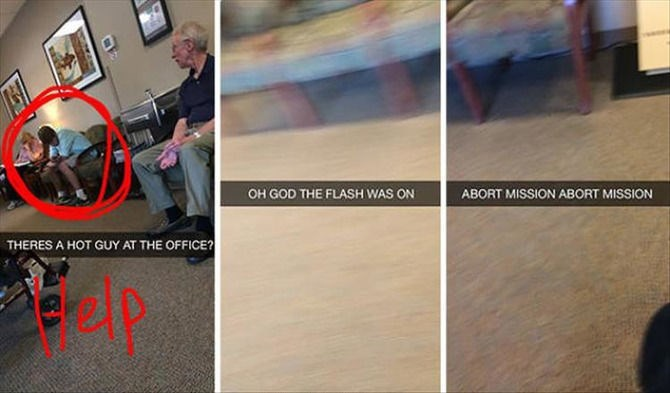snapchat - Hardwood - OH GOD THE FLASH WAS ON ABORT MISSION ABORT MISSION THERES A HOT GUY AT THE OFFICE? ep