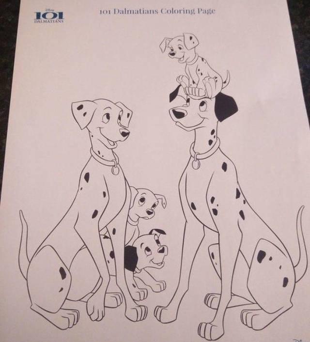 Dalmatian - 101 Dalmatians Coloring Page PALMATIANS