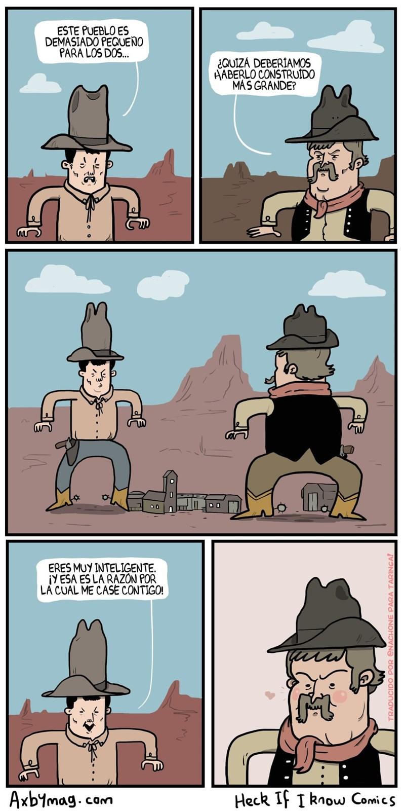 cuando el pueblo es demasiado pequeno para este par de vaqueros