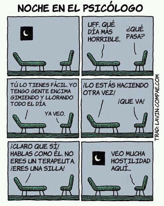 sillas que hablan noche en el psicologo
