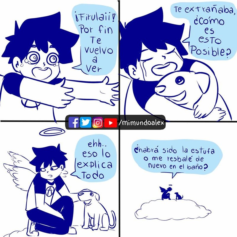 cuando te mueres y te encuentras en el cielo con tu perro