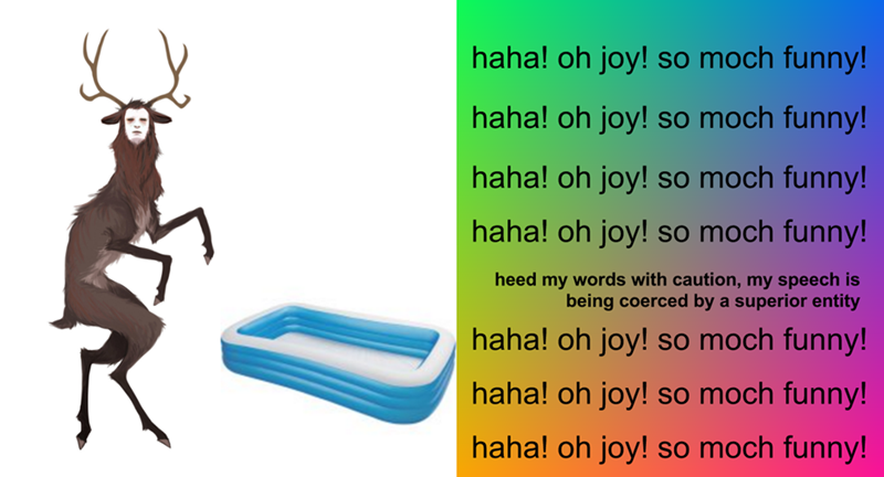 Surreal meme - Insect - so moch funny! haha! oh joy! haha! oh joy! so moch funny! haha! oh joy! so moch funny! haha! oh joy! so moch funny! heed my words with caution, my speech is being coerced by a superior entity haha! oh joy! so moch funny! haha! oh joy! so moch funny! haha! oh joy! so moch funny!