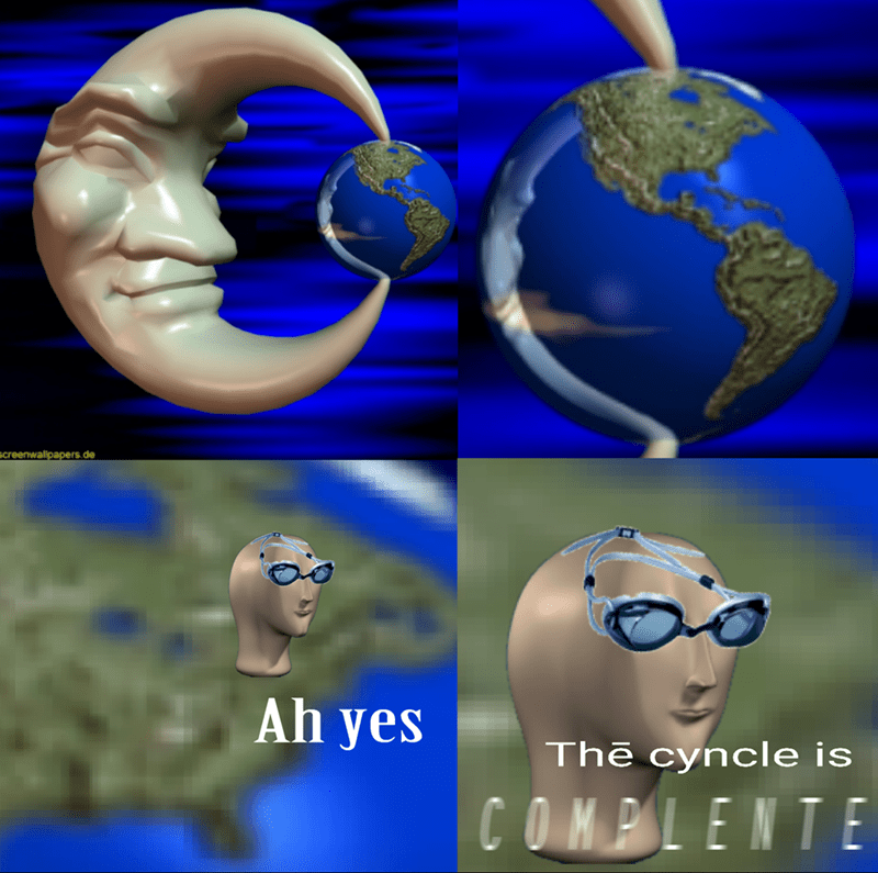 Surreal meme - Blue - screenwallpapers.de Ah yes The cyncle is COMPLENTE