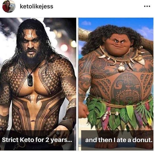 keto meme - People - ketolikejess and then I ate a donut. Strict Keto for 2 years...